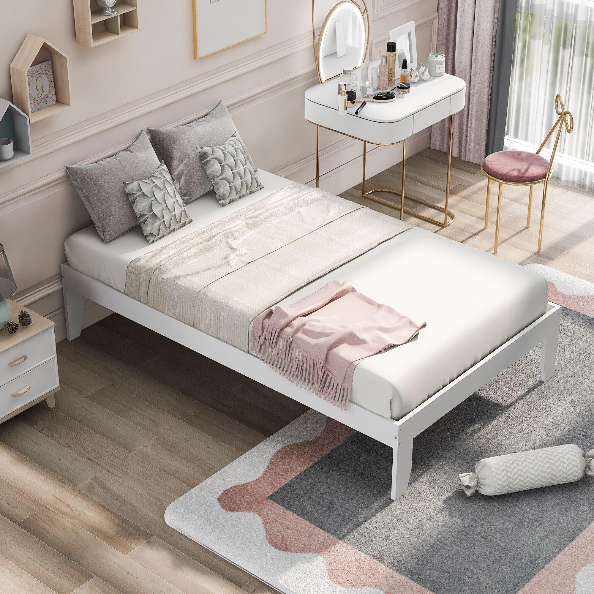 Рамка для кровати в скандинавском стиле с сосновой древесиной без пружины, двойная платформа, рамка для кровати, мебель для спальни недорого