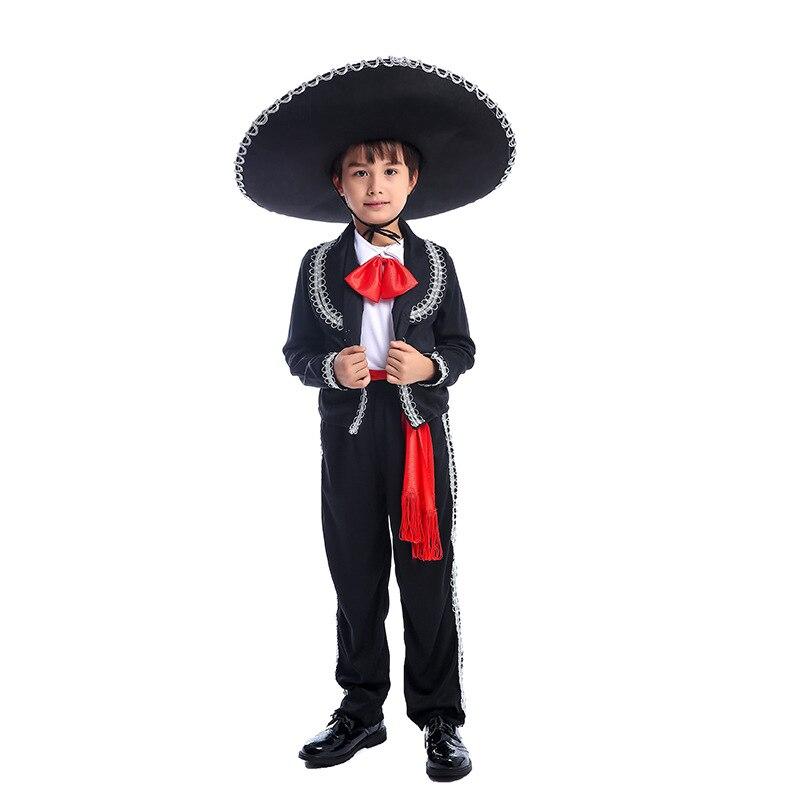 Disfraz de Cosplay de niño, Mariachi, Amigo de México, Coco, Ernesto de la Cruz, uniforme de Cosplay de músico, niño, Purim, vestido elegante para Halloween