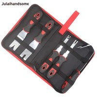 Julaihandsome 5PCS Metal Pry Tool Set Auto Door Panel Trim Upholstery Clip Remover Kit with Storage Bag