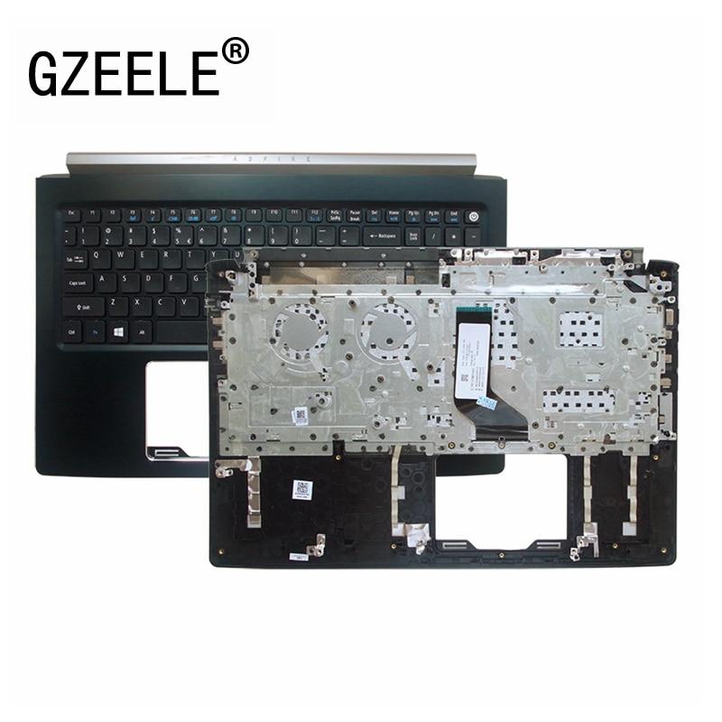 GZEELE 95% جديد العلوي الحال بالنسبة لشركة أيسر أسباير 5 6 7 A615 A615-51 A515-51G N16Q2 N17C4 563 واط A517 A715 Palmrest غطاء مع لوحة المفاتيح الولايات المتحدة