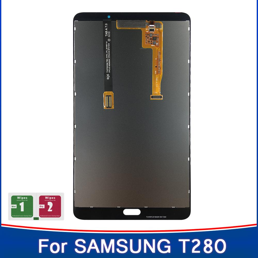 Novedad de 100%, pantalla táctil con pantalla táctil para Samsung Galaxy Tab A 7,0 (2016), SM-T280 T280 T285, pantalla táctil LCD de alta calidad