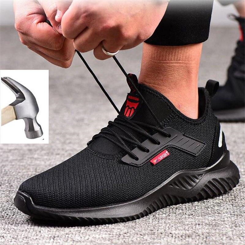 2021 Мужские дышащие Нескользящие промышленные кроссовки для мужчин