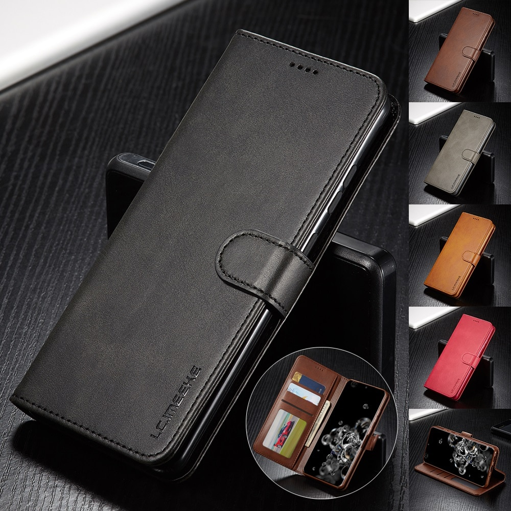 Leather Case for Samsung Galaxy S20 Ultra Plus A71 A51 A41 Note 20 10 Plus A70 A50 A20 A20e S9 S8 Pl