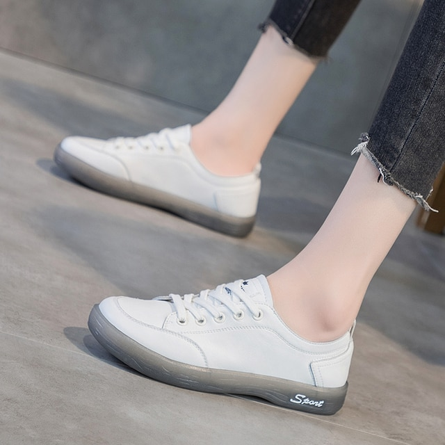 AIYUQI Sneakers Shoes women Genuine Leather Casual All-match White Shoes Women Flat Large Size Non-slip Loafers For Girls 6