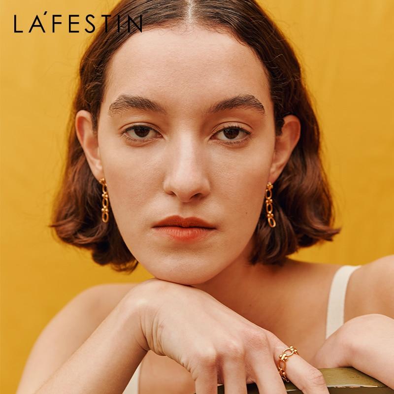 LA FESTIN Original limited edition temperament earrings 2021 new fashion simple jewelry retro niche design earrings