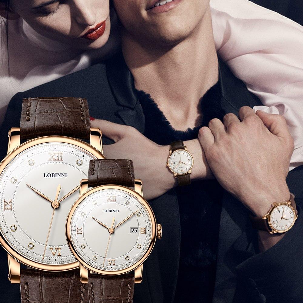 Suíça relógio de luxo amantes da marca relógio de pulso safira vintage quartzo relógio de couro montre casal presente de natal das mulheres dos homens