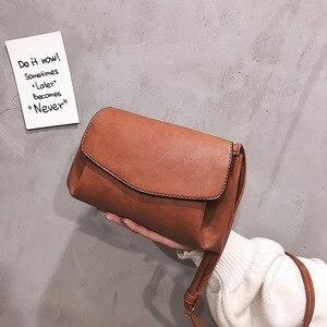 Bag women's autumn and winter new Korean fashion single shoulder bag retro soft skin solid color messenger bag for ladies