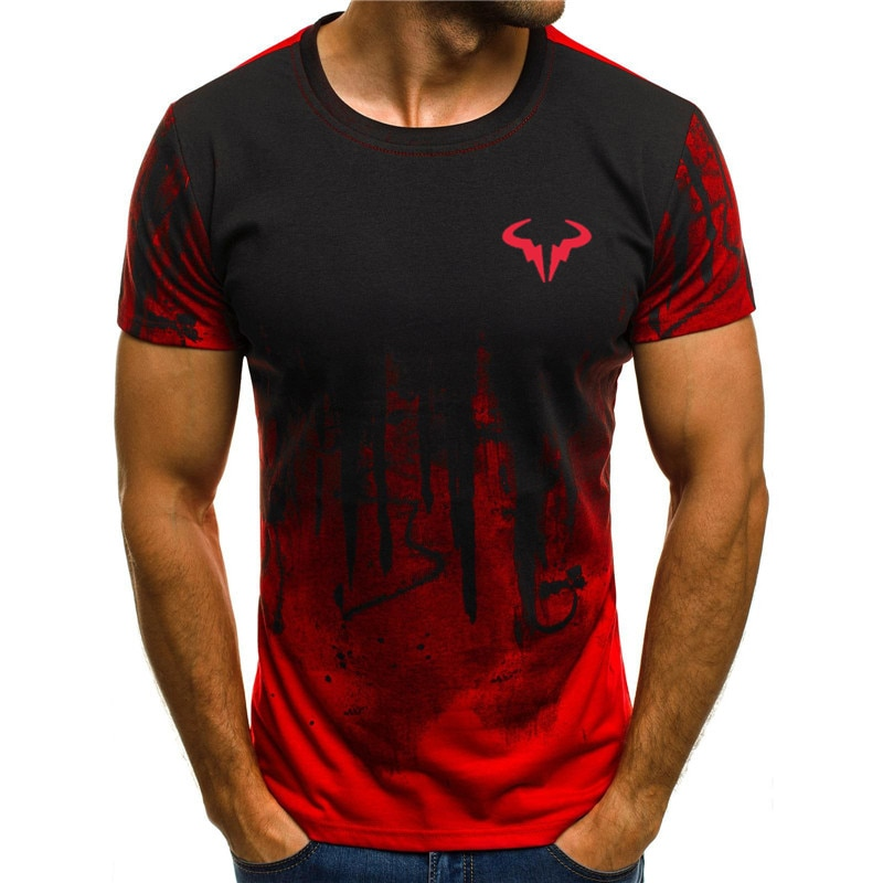 Мужские футболки с 3D принтом, мужские футболки с коротким рукавом, летние футболки с круглым вырезом, модные повседневные футболки, популяр...