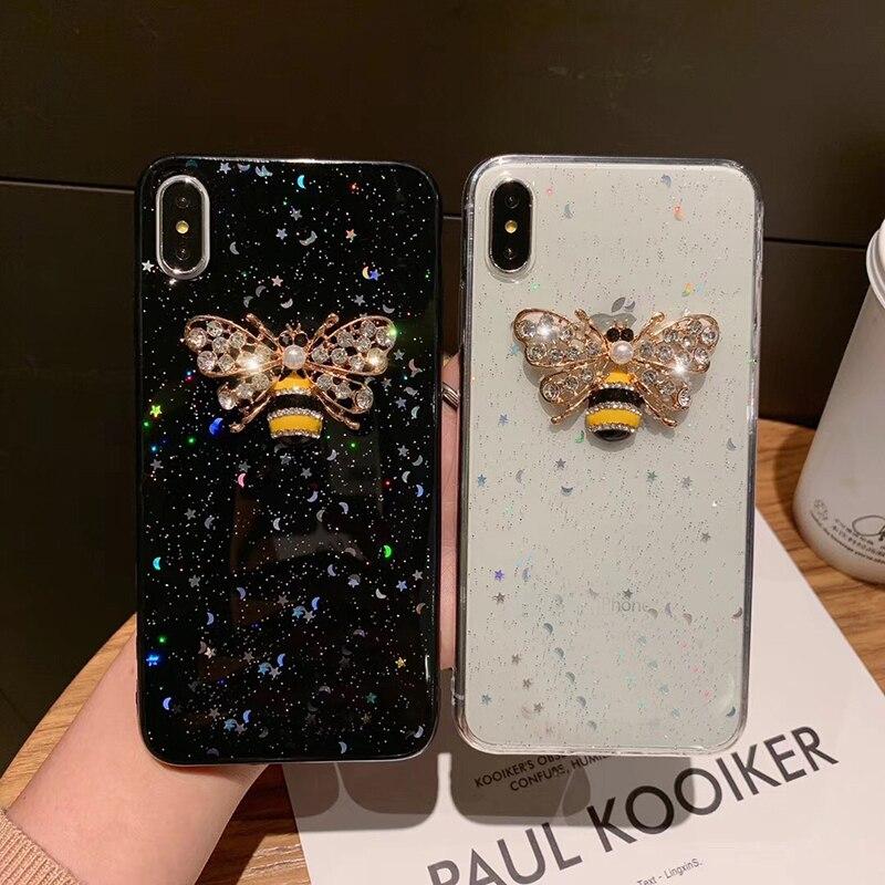 Luxus Glitter Telefon Fall Für iPhone 11 Pro Max XR XS MAX X 8 7 6 6S Plus SE 2020 fall Für Samsung Galaxy Note 10 S10 S10E Plus