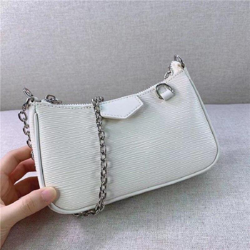 حقائب كتف جلدية حقيقية للسيدات حقيبة يد سهلة على حزام حقيبة يد سلسلة المحافظ وحقائب اليد حقيبة تحت الإبط جودة عالية