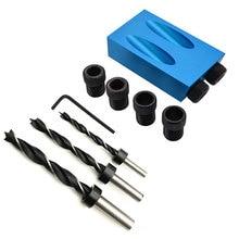 14 unids/set Kit con portapiezas con orificios 6/8/10mm adaptador de unidad para taladro de ángulo agujeros guía espiga herramientas de madera