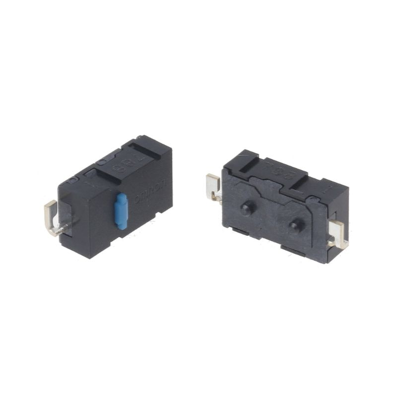 2PCs Original Omron Mouse Micro Switch Mouse Button Blue Dot Side Button for Anywhere MX Logitech M905 G502 G900 ZIP omron mouse micro switch d2f f 3 7 button suitable for 10m 20m 50m steelseries sensei 310 g304 g305 g602 g900 g903 free shipping