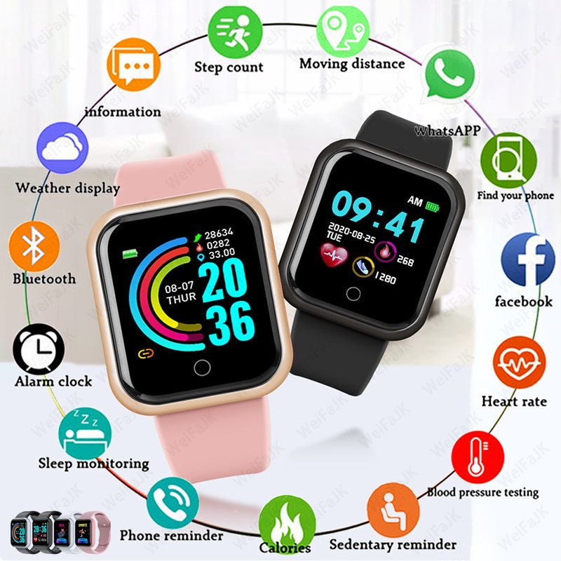 2020 Smart Watches Men Women Smartwatch Heart Rate Step Calorie Fitness Tracking Sports Bracelet For Apple Android Smart Watch