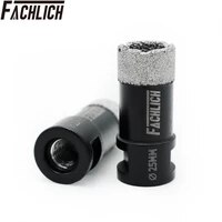 fachlich 2pcs professional diamond hole cutter porcelain drilling core bits for tile hole saw m14 thread for angle grinder