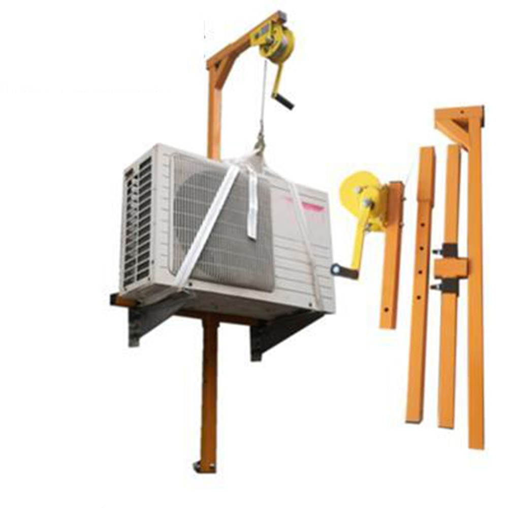 Manual Stainless steel, outside installation lifting tool, crane, folding, self-locking manual winch assembly air conditioner enlarge
