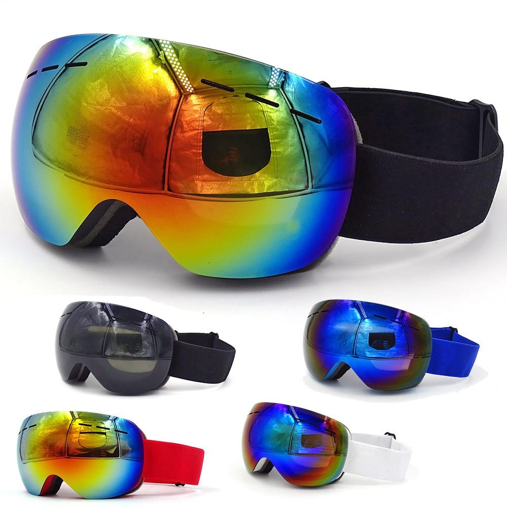 горнолыжные очки,с чехол,двухслойные,антизапотевающая,УФ-защита 400,очки для сноуборда,лыжные очки,лыжная маска,очки для снегохода,очки мото...