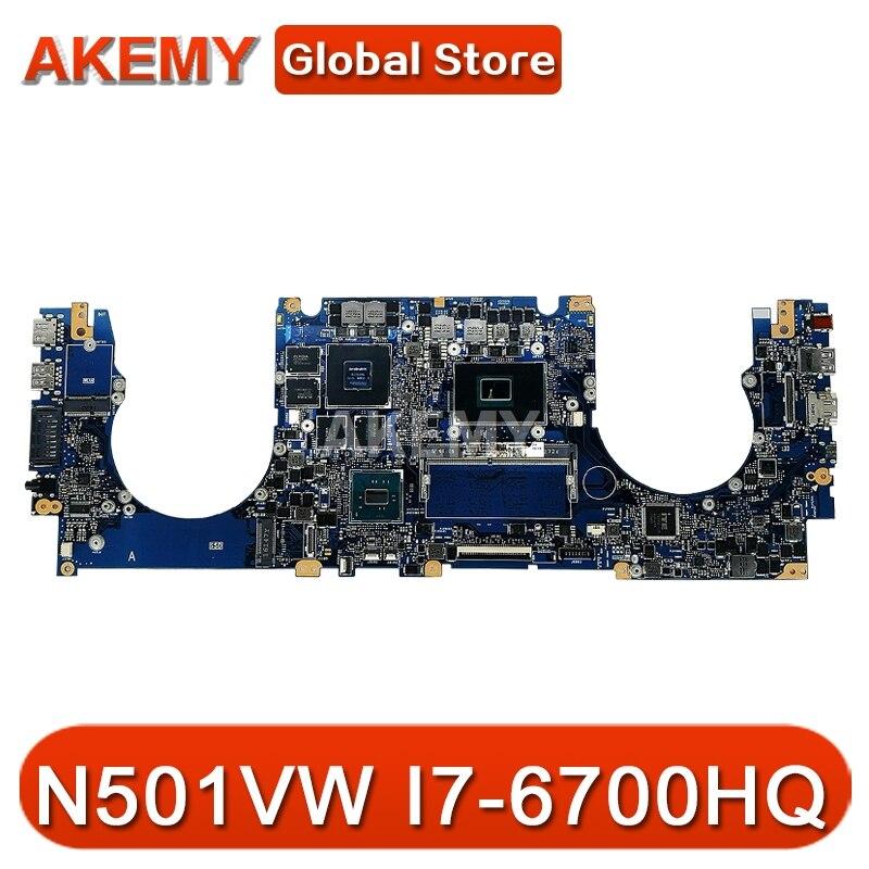 Akemy n501vw placa-mãe do portátil para asus rog g501vw original mainboard 8gb-ram I7-6700HQ gtx960m