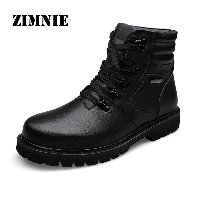 ZIMNIE ماركة 2020 جودة عالية جلد أصلي للرجال الأحذية الدكتور الأحذية أحذية عالية أعلى دراجة نارية الخريف الشتاء أحذية الرجال الثلوج الأحذية