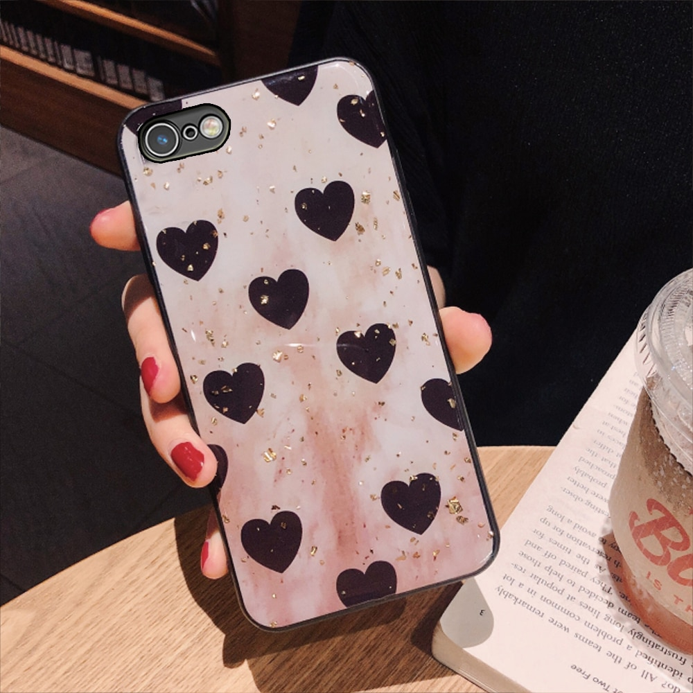 YueTuo, copia trasera de teléfono de tpu suave de lujo, carcasa, capinha, etui, coque, funda, silicona funda para iphone 8 i para apple iphone 8