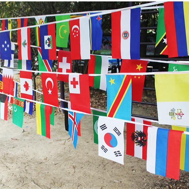 Веревочный флаг Aerlxemrbrae 20*30 см, флаг 100 стран по всему миру, маленький флаг, подвесные флаги