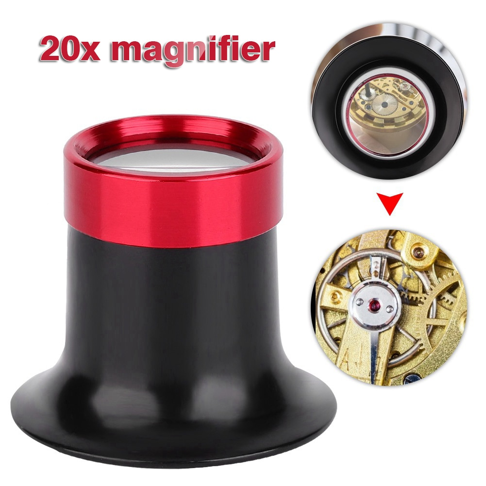 20X Magnifying Glass Watch Jewelry Repair Magnifier Tool For Watchmakers Professional Watch Loupe Po