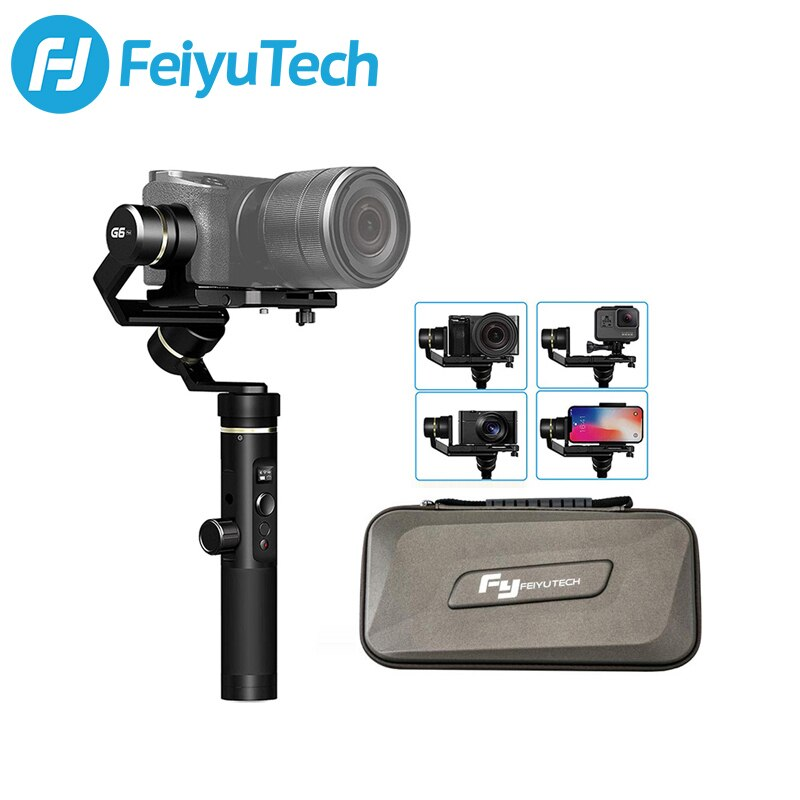FeiyuTech G6 Plus 3-Axis يده مثبت Gimbal للهواتف الذكية Gopro بطل 7 6 5 سوني RX0 سامسونج s8 800g الحمولة Feiyu G6P