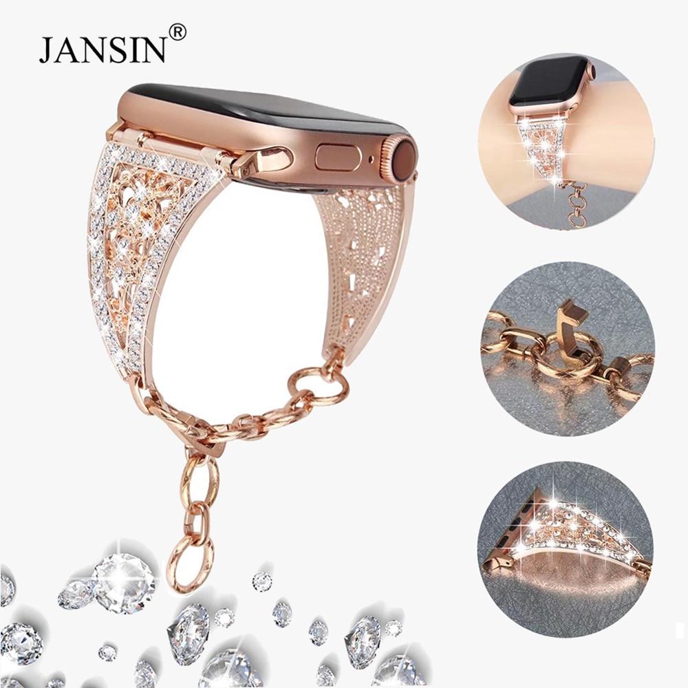 Luxury Bling Diamond strap for Apple Watch Band Series 6 SE 5 4 3 Metal Strap Watch Bracelet For app