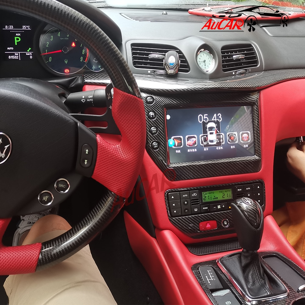 "AuCAR 9 ""אנדרואיד 8.1 דין מולטימדיה לרכב רדיו סטריאו עבור מזראטי GT/GC GranTurismo 2007 - 2017 GPS ניווט אוטומטי DVD נגן"