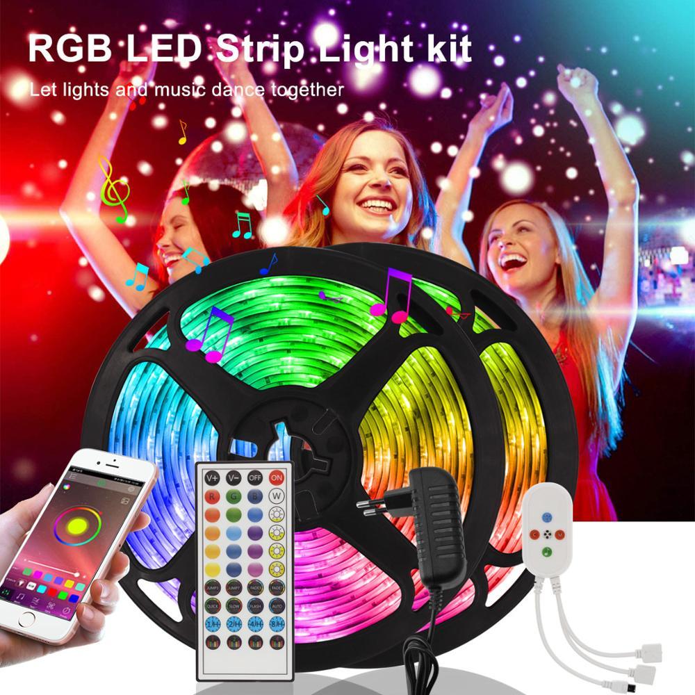 Tira de luces LED con Bluetooth para decoración de Navidad Tira de...