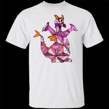 Camiseta blanca de manga corta y sexi para hombre de Epcot Figment, camisetas de M-XXXL, camiseta a la última moda