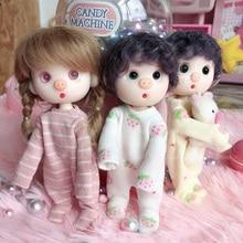 Ob11 obitsu 11 ropa de muñeca con capucha 1/12 ropa de BJD hermoso nudo cerdo bebé hermana cabeza redonda vestido Accesorios