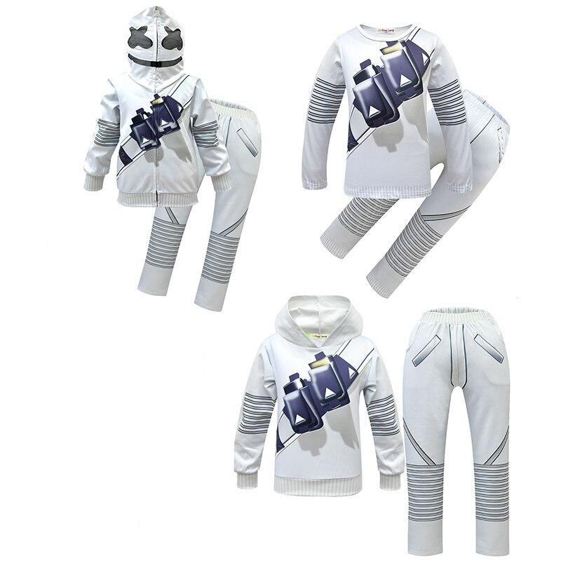 DJ Cotton Candy Kids Sweatshirt/Pants/short sleeve cosplay Costume Cartoon Print Boys and Girls Halloween Game Uniform