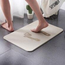 Diatom-tapis absorbant antidérapant boue   Sèche rapide, tapis de salle de bain, accessoires de salle de bain, dywaniki lazienkowe