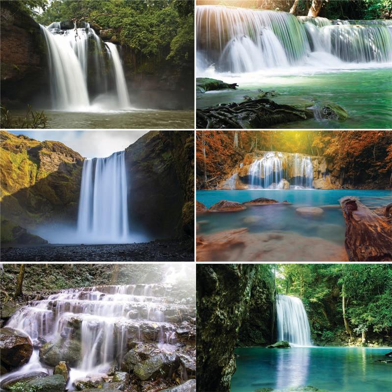 Vinil personalizado fotografia backdrops prop cachoeira tema fotografia fundo HS20228-11