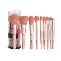 9 pcsset women gift soft tip eye shadow concealer foundation lip brush kit cosmetics makeup brushes set beauty makeup tools