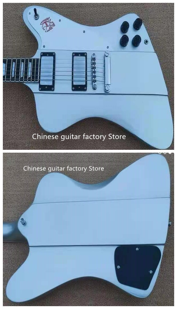 Guitarra Eléctrica Firebird de alta calidad de cuerpo azul metalizado conexión de...