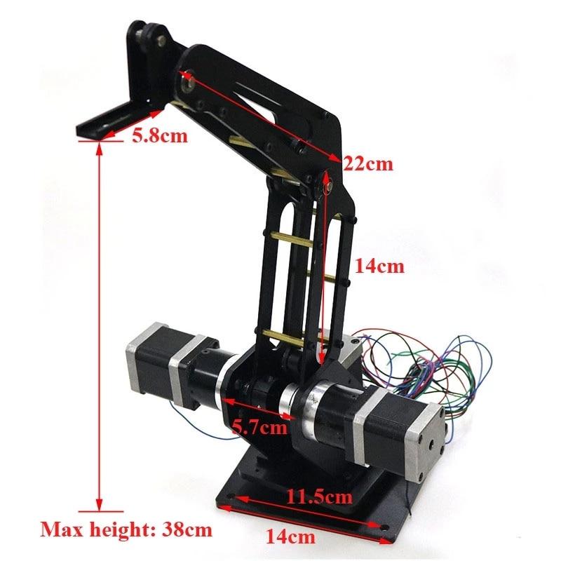 ذراع آلي للنقش بالليزر ثلاثي الأبعاد ، ذراع روبوت صناعي مع محرك متدرج للنقش بالليزر