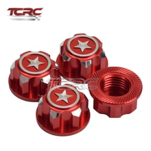 TCRC 4 Uds CNC aluminio 17mm rueda hexágono tuercas antideslizante a prueba de polvo para 1/8 Traxxas x-maxx Summit e-revo ARRMA Buggy Truck