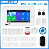 Awaywar     systeme dalarme de securite domestique intelligent  compatible avec Tuya IP Camrea  wi-fi et GSM  anti-cambriolage
