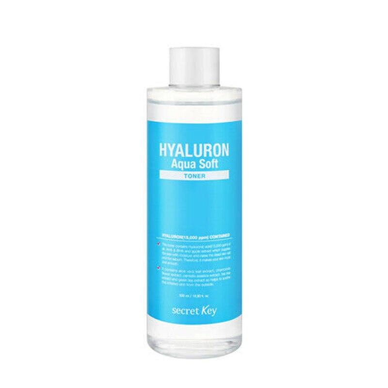 Clave secreta Hyaluron Aqua, tóner suave de 500 ml, tóner Facial, cuidado de la piel, blanqueamiento, hidratación Facial, exfoliante, aceite SÉRUM Control