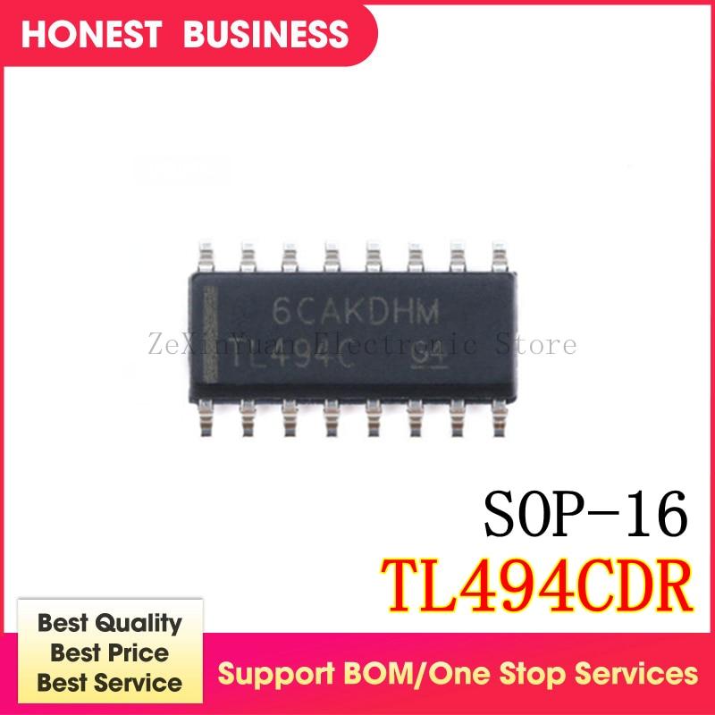 10 unids/lote TL494CD TL494ID TL494CDR TL494C TL494 AZ494 KIA494 SOP16 nueva calidad es muy buen trabajo 100% del chip IC en Stock