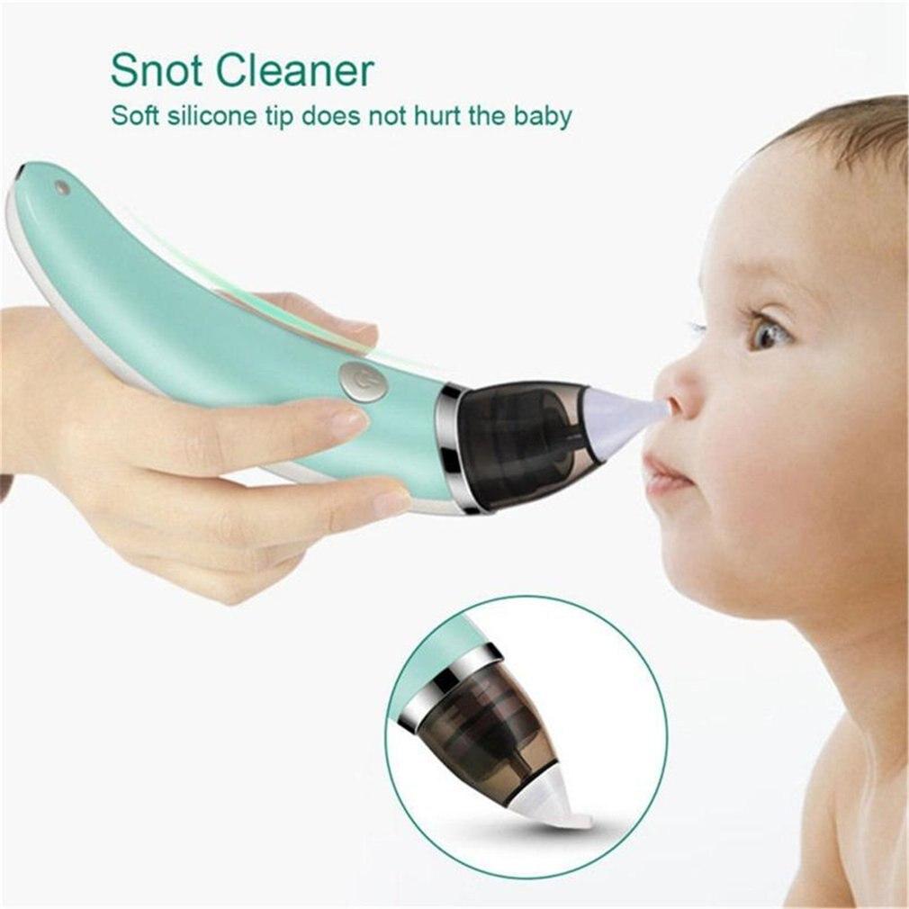 Aspirador Nasal para bebé chico limpiador de nariz eléctrico limpiador de succionadores para bebé recién nacido equipo para olfatear aspirador de nariz higiénico seguro