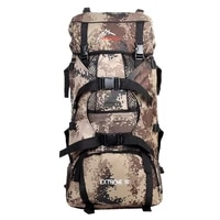 90l large hiking mountaineering camping travel backpack outdoor bag new