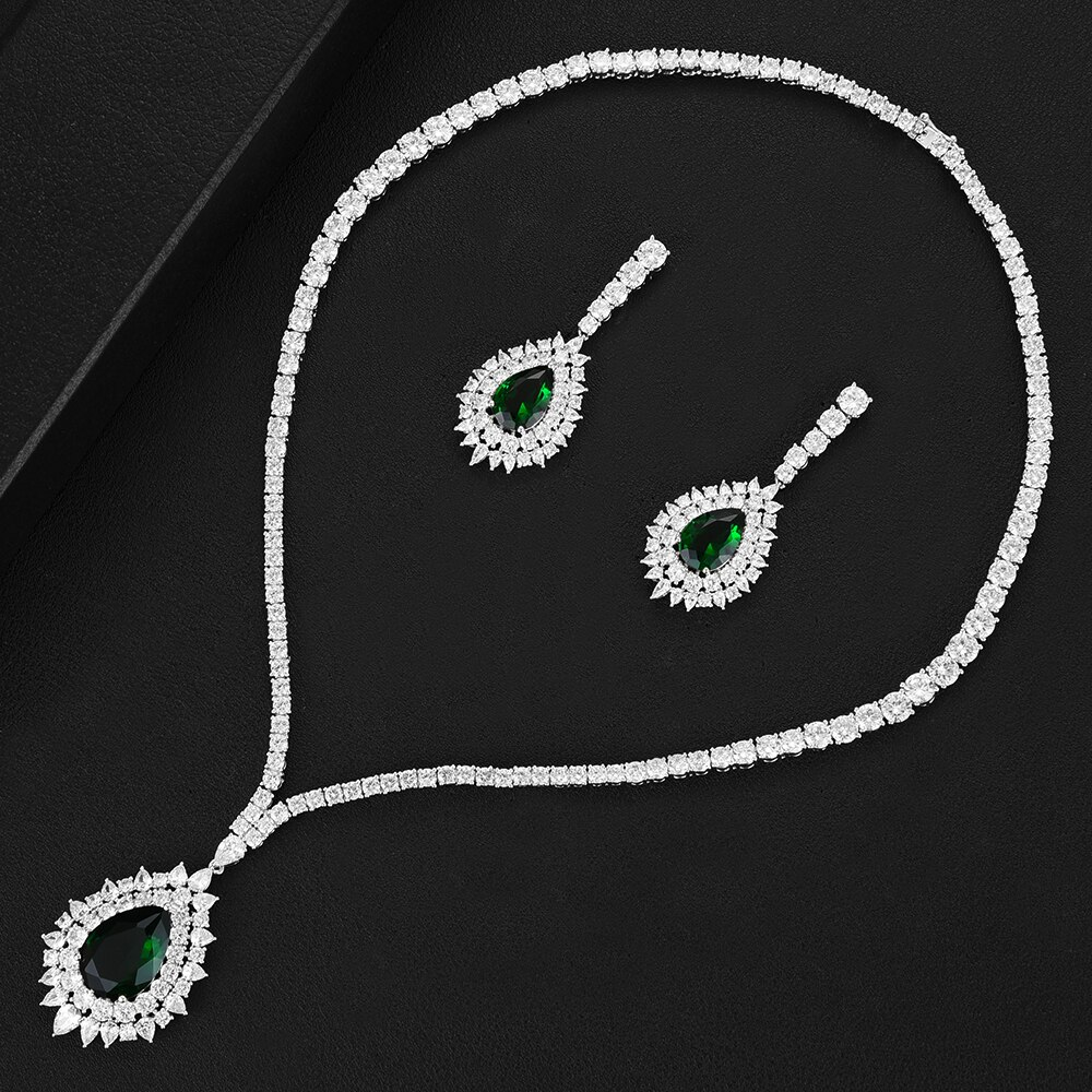 Blachette عالية الجودة العلامة التجارية الشهيرة Charms مجموعات مجوهرات الزفاف صنع للنساء بيان قلادة أقراط الإكسسوارات