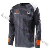 New Style Men Fishing Clothing XS-5XL Size Daiwa Fishing Shirt Anti-UV Fishing Clothes Long Sleeve Jacket DAWA Camisas Gift Free
