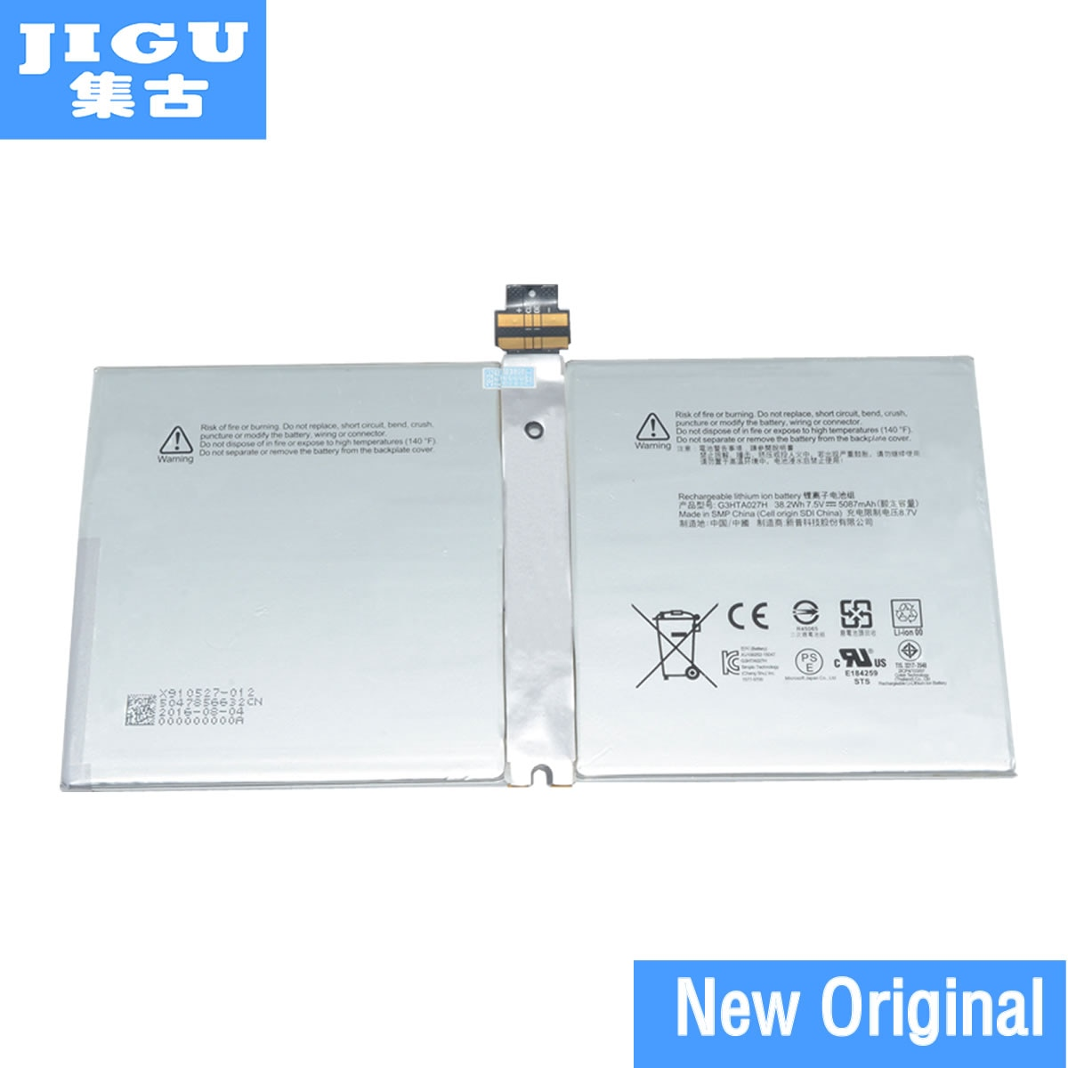 Batería Original para ordenador portátil jgu 7,5 V 16476433753 A1601 DYNR01 G3HTA027H P21GU9 para MICROSOFT Surface Pro 4 1724