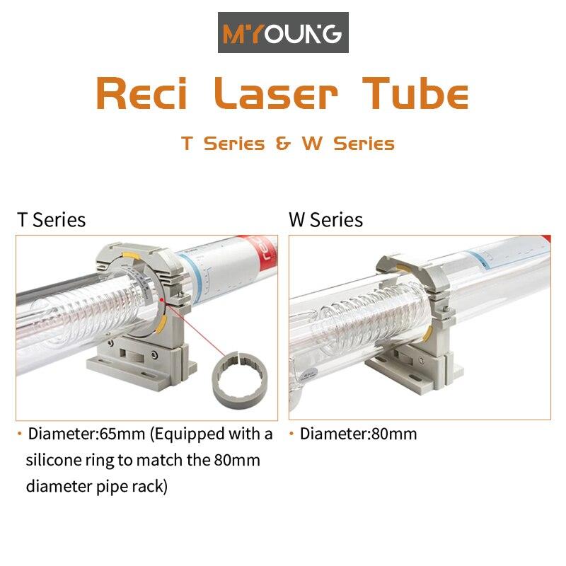 Co2 أنبوب الليزر عالية الاستقرار 130 واط 80 مللي متر Co2 أنبوب ليزر زجاجي لقطع المواد غير المعدنية