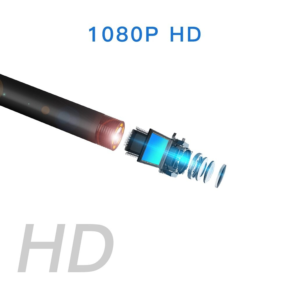 5.5mm 1080P HD Lens Borescope Camera 4.3 Inch IPS Industrial Ultra-Clear Pipeline with Screen Automotive Professional Waterproof enlarge