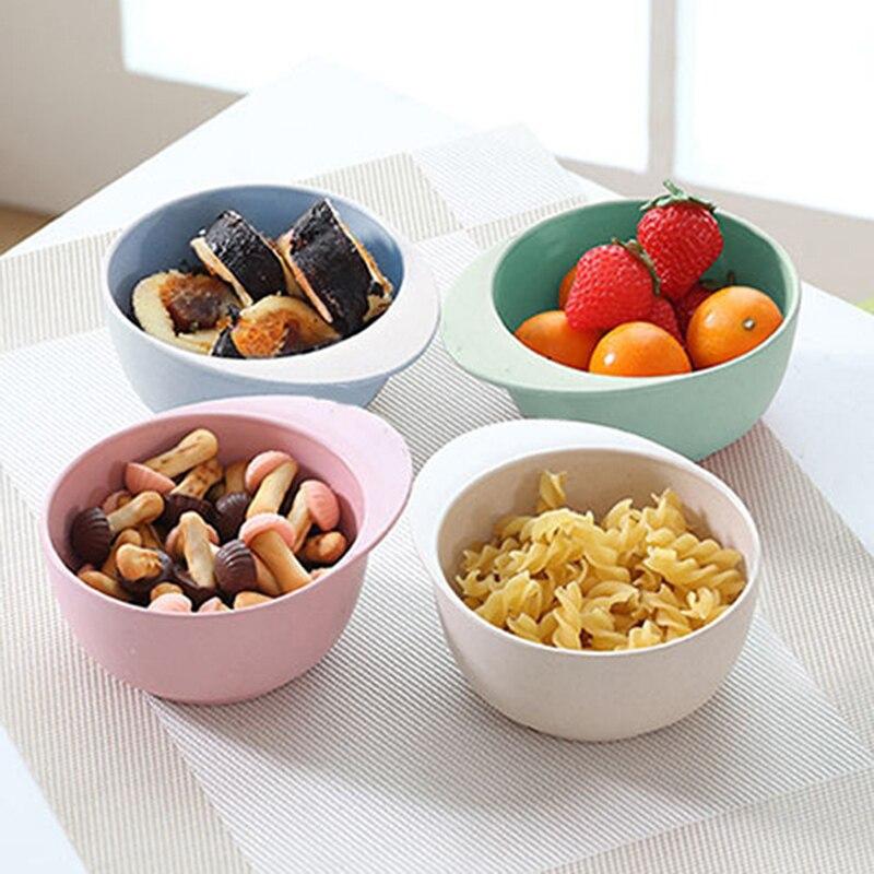 Plato creativo de dibujos animados de Mickey para niños de alta calidad, plato de fideo de fibra de bambú, tazón de sopa para ensalada de frutas para niños