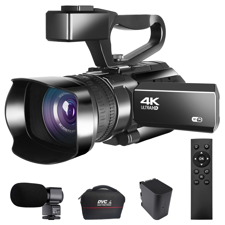 KOMERY 30X Digital Zoom Video Digital Camera Vlogging 4K Camcorder 48MP for YouTube Live Streaming W
